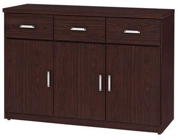 【時尚屋】[UZ5]興隆胡桃4尺餐櫃950-6