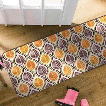 【范登伯格】法蘭絨柔順地毯-(葉子)-100x140cm歡樂遊戲毯