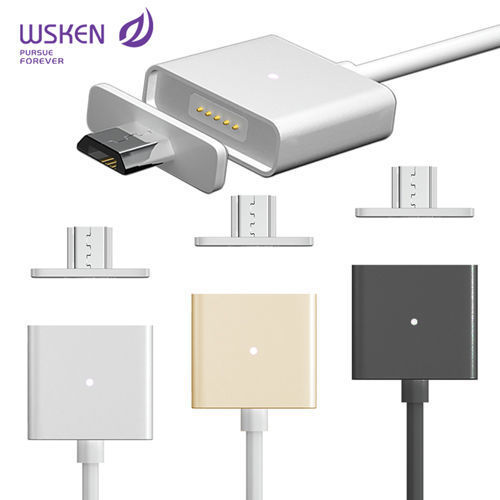 WSKEN鋁合金 磁吸充電線 Micro USB接頭!! 三星 HTC SONY LG 華為 小米 華碩手機 磁力充電線 傳輸線