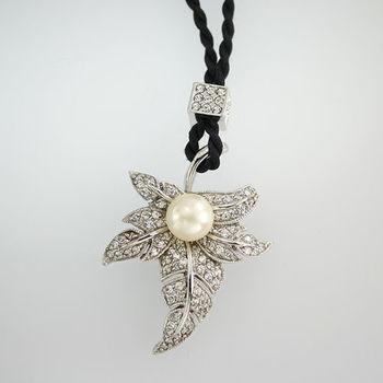 【JA-ME】楓葉天然珍珠項鍊