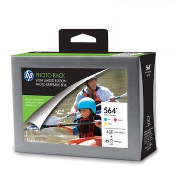 HP SD741A 564原廠墨水匣三彩+A6相紙超值組合