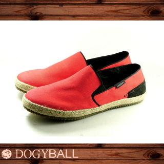 【Dogyball】JB004 Reed 輕鬆帆布懶人便鞋(紅色)