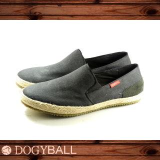 【Dogyball】JB004 Reed 輕鬆帆布懶人便鞋((黑色)