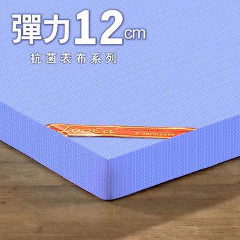 LooCa 美國Microban彈力12cm記憶床墊-單人