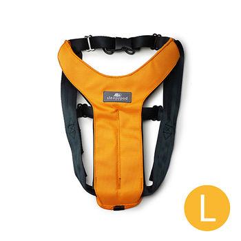 Sleepypod 寵物旅者安全胸背帶-橘L