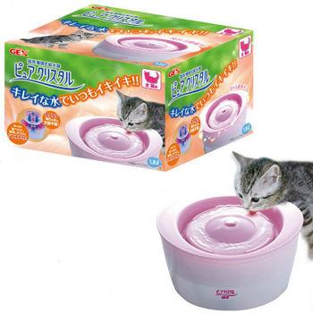 【GEX】日本 全貓用 活水過濾 循環淨水飲水器 1.8L X 1入