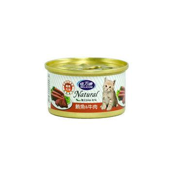 【BELICOM】倍力康 化毛貓-鮪魚+牛肉 貓罐80G x 24入