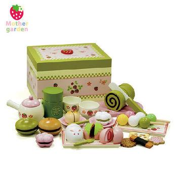 日本【Mother Garden】野草莓日式抹茶點心盒