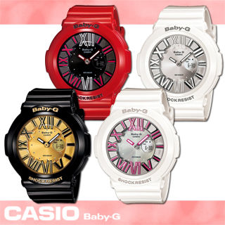 【CASIO 卡西歐 Baby-G 系列】絢麗霓虹3D立體個性雙顯女錶(BGA-160)