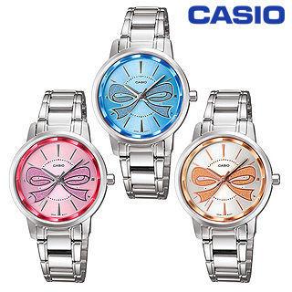 【CASIO 卡西歐】大蝴蝶結設計簡約淑女錶(LTP-1313D)
