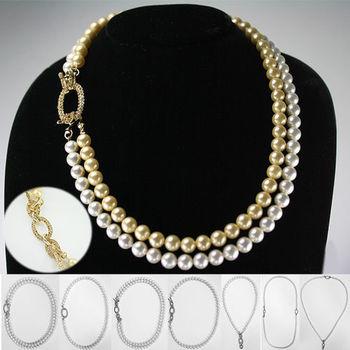 【xmono】優雅貴婦南洋貝珍珠項鍊(白/金)