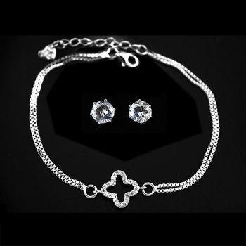 【xmono】好運限定純銀手鍊耳環組