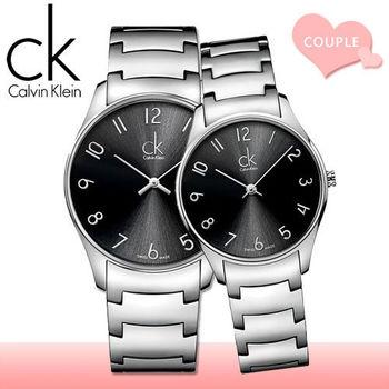 【瑞士 CK手錶 Calvin Klein】甜蜜浪漫情侶對錶(K4D2114X+K4D2214X)