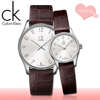 【瑞士 CK手錶 Calvin Klein】甜蜜浪漫情侶對錶(K4D231G6+K4D211G6)