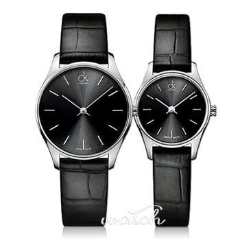 【瑞士 CK手錶 Calvin Klein】2種尺寸選擇-皮革帶女錶(K4D221C1/K4D231C1)