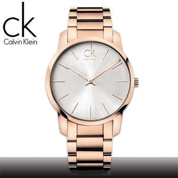 【瑞士 CK手錶 Calvin Klein】甜蜜玫瑰金_強化玻璃_不鏽鋼男錶(K2G21646)