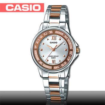【CASIO 卡西歐】送禮首選_華麗粉系_不鏽鋼款女錶(LTP-1391RG)