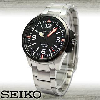 【SEIKO 精工】不鏽鋼錶帶霸氣型/機械男錶(SRP027K1)
