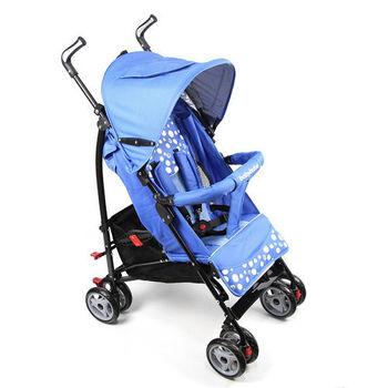 BabyBabe 新款全罩式加寬平躺傘車(藍)
