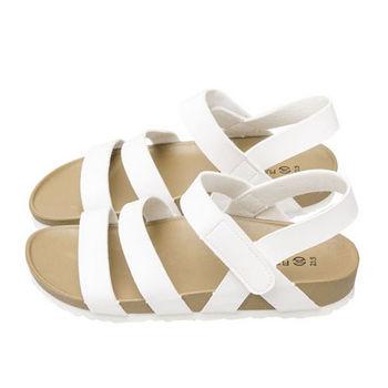 FUFA MIT 簡約厚底涼鞋 (FA50) 白