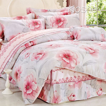 【KOSNEY】韻味馨香  雙人100%天絲TENCEL四件式兩用被床包組