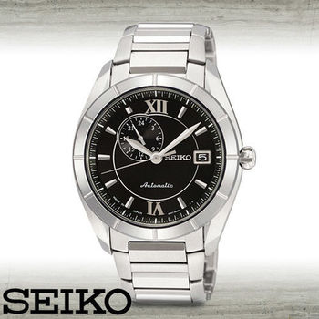 【SEIKO 精工】藍寶石水晶玻璃手自動機械男錶(SSA011J1)