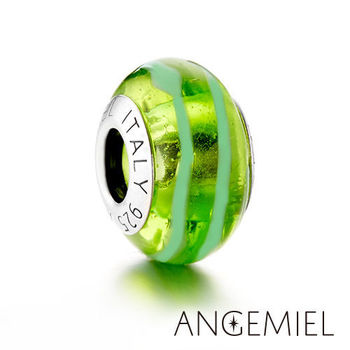 Angemiel安婕米 義大利純銀珠飾 碧綠 琉璃珠