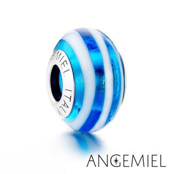 Angemiel安婕米 義大利純銀珠飾 湛藍 琉璃珠