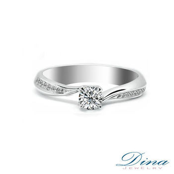DINA JEWELRY 蒂娜珠寶『炫麗』系列30分CZ鑽 珠寶手工銀飾女戒