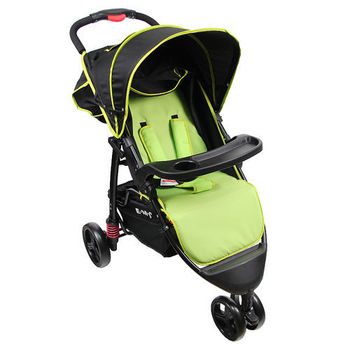 EMC 歐式豪華三輪嬰兒推車(蘋果綠)