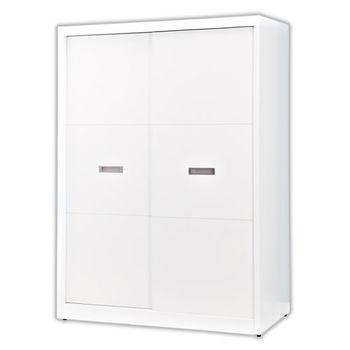 【顛覆設計】萊思5尺純白色推門衣櫥