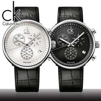 【瑞士 CK手錶 Calvin Klein】時尚流行-三眼腕錶(K2N271C1/K2N271C6)