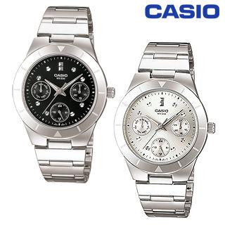 【CASIO 卡西歐】三眼指針型氣質女錶(LTP-2083D)