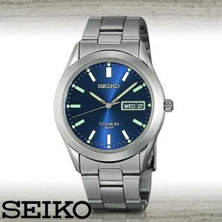 【SEIKO 精工】鈦金屬超輕時尚男錶(SGG601P1)