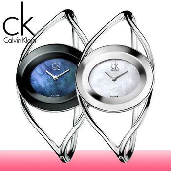 【瑞士 CK手錶 Calvin Klein】貝殼面一體成形手環式女錶(K1A2311F_K1A2351G)