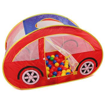 跑車型遊戲球屋(附100顆彩球)