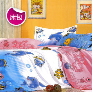 【R.Q.POLO】海底世界 絲棉柔-單人二件式床包組(3.5尺)