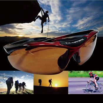 【e-Bay shop】時尚運動太陽眼鏡(加贈冰旋風隨身風扇*1 )