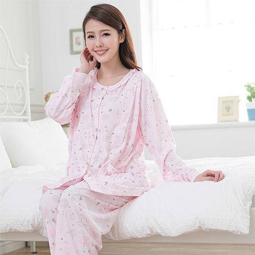 【MFN】親親兔兒棉質長袖哺乳睡衣褲裝