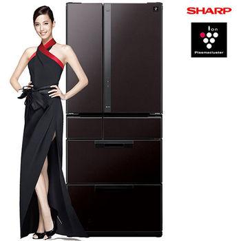 ★贈好禮★『SHARP』 ☆ 夏寶 601L 六門鏡面變頻冰箱(SJ-GF60X/ SJ-GF60X-T 黑鑽棕)