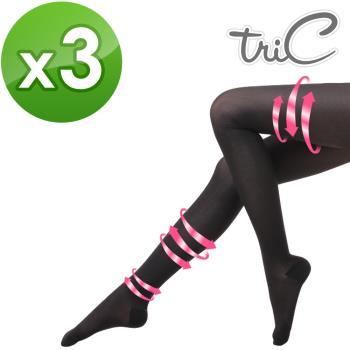 【Tric】台灣製 200Den包趾壓力褲襪 三雙(壓力襪/顯瘦腿襪/健康襪/彈力襪/絲襪褲襪)