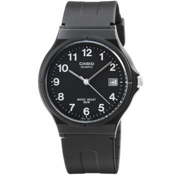 CASIO 卡西歐薄型日誌石英錶-黑 / MW-59-1B (原廠公司貨)