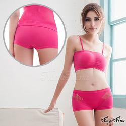 愛褲!無東森購物網站商城縫透氣洞洞中低腰平口褲S-XL(深粉)