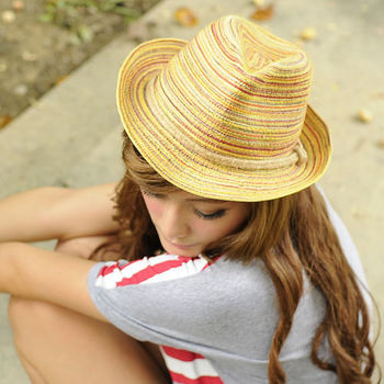 太妃糖 造型木質絲彩個性遮陽帽