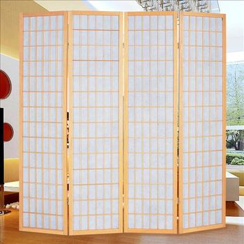 【時尚屋】[2T5]和風實木方格屏風608