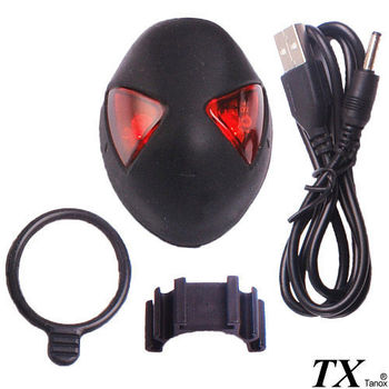 【特林TX】蜘蛛面具人造型自行車用尾燈(CH-789-Z)