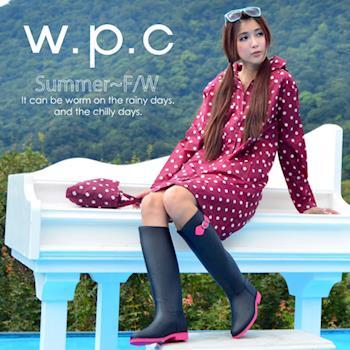 【w.p.c.】顯瘦修長款。時尚雨衣/風衣(R1005)-紅點點