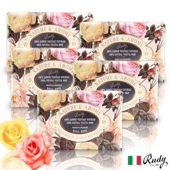 【義大利Rudy Profumi】米蘭古典玫瑰花保濕香皂150g(買三送二超值組)