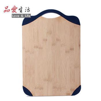 【品愛生活】VEKOO系列矽膠邊框竹製砧板(兩入組)
