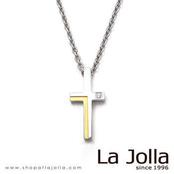 La Jolla 雙色十字 純鈦墜項鍊